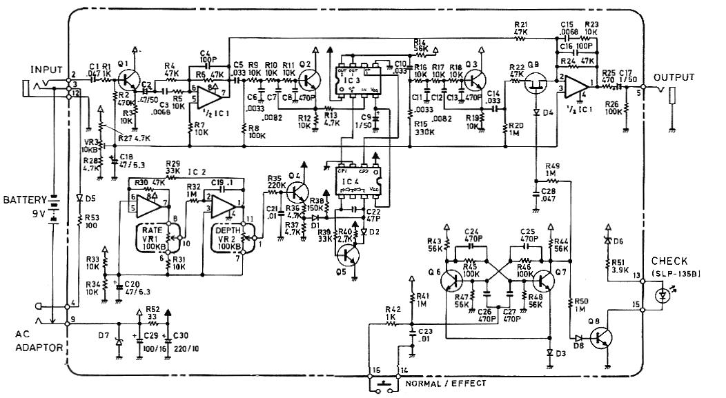 Boss CE-2 chorus pedal schematic diagramHobby Hour