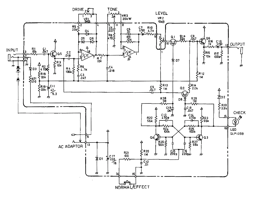 Boss SD-1 Super OverDrive guitar pedal schematic diagramHobby Hour