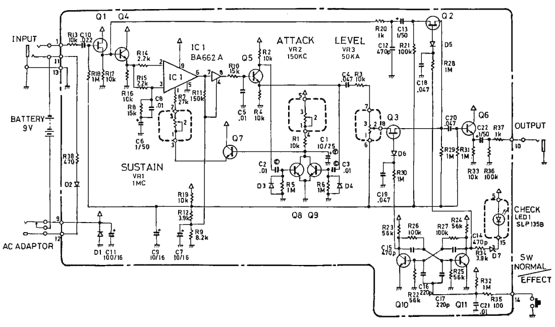 Boss CS-2 Compression Sustainer Guitar Pedal Schematic DiagramHobby Hour