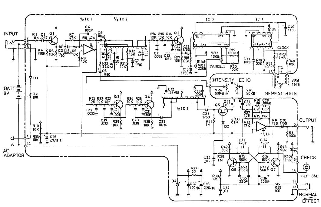 boss dm-2 delay guitar pedal schematic diagram  hobby hour