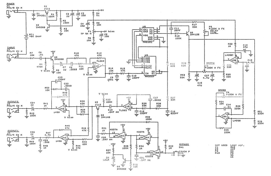 Wiring Diagram Dod Chorus Pedal