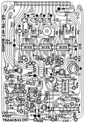 Boss GE7B Bass    Equalizer    guitar pedal    schematic       diagram