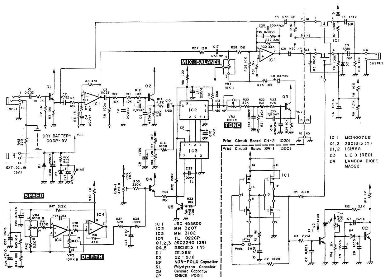 Schematic diagram of Pearl CH-02 Chorus